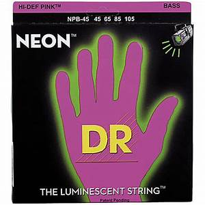 DR Neon Pink Medium Electric Bass Strings