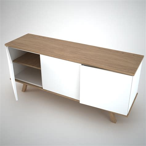 White And Oak Sideboard by Ottawa Sideboard 3 White Join Furniture