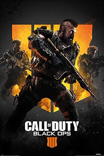 call  duty black ops  poster multi colour