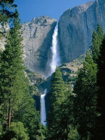 Waterfalls Swollen Summer Snowmelt The Upper