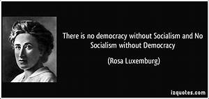 There is no dem... Socialist Party Quotes
