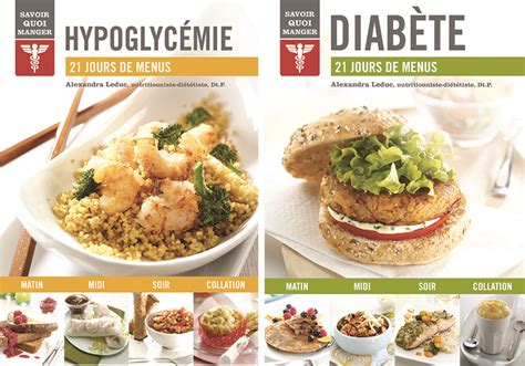 livres de recettes 21 jours de menus pour diabète et