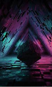 Download wallpaper 1280x1024 cube, figure, dark, tunnel ...