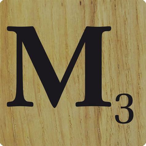 lettre cuisine en bois lettre déco scrabble en bois naturel m