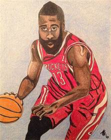 James Harden Cartoon Drawing