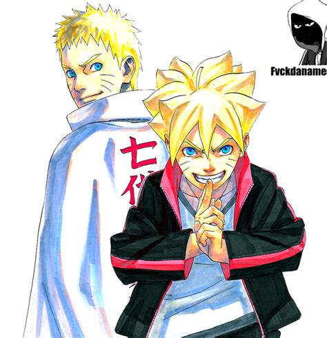 Naruto Uzumaki And Boruto Uzumaki By Fvckfdaname On