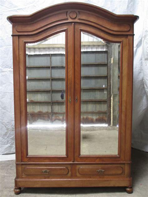 century walnut oak backed french mirror  door