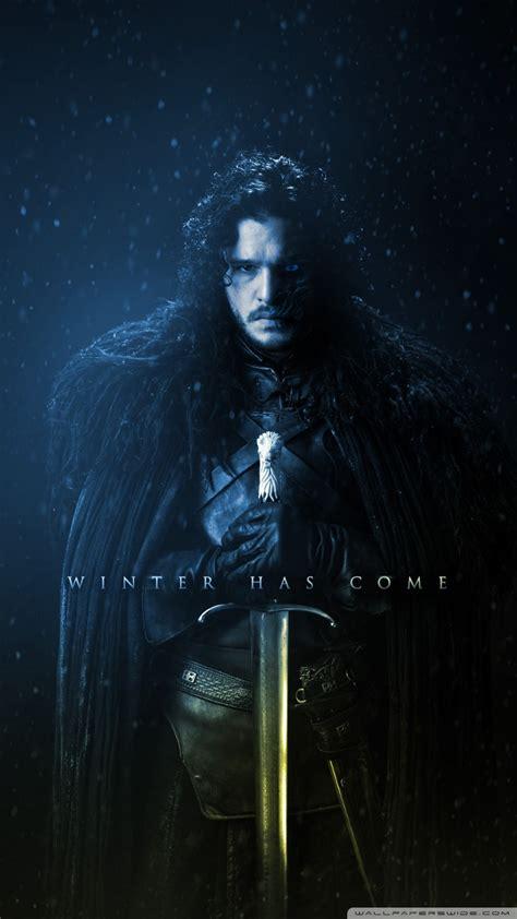 game  thrones season  winter   ultra hd desktop