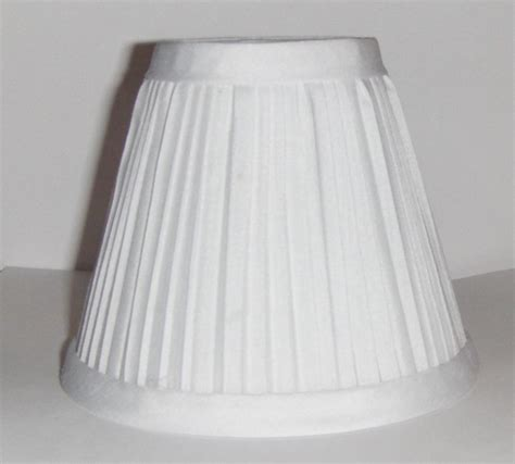 new white pleated fabric mini chandelier l shade