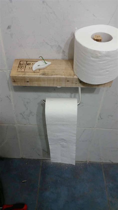 super easy pallet toilet paper holder  pallets