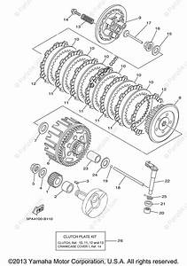 Yamaha Motorcycle 2006 Oem Parts Diagram For Clutch