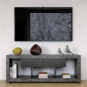 Meuble Tv Au Mur : nara meuble tv temahome ~ Teatrodelosmanantiales.com Idées de Décoration