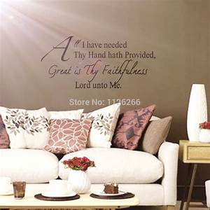 aliexpresscom buy christian wall decals quotes great is With best brand of paint for kitchen cabinets with scripture wall stickers