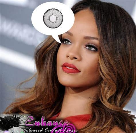 rihanna real eye color fashion contact lenses november 2013