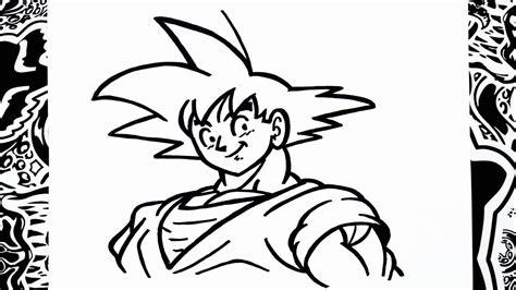 Como dibujar a goku paso a paso how to draw goku como