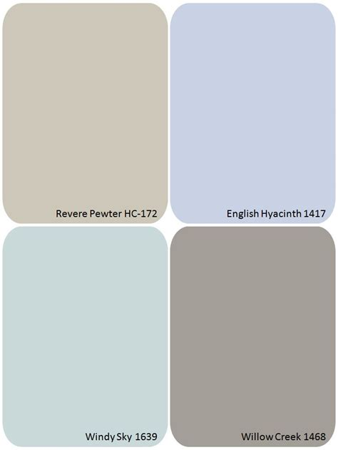 foto de Benjamin Moore paint colors for the house interior willow