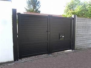 Portail En Aluminium : portail plein alu portail exterieur sfrcegetel ~ Melissatoandfro.com Idées de Décoration