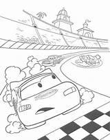 Coloring Track Pages Getcolorings Printable Pixar sketch template