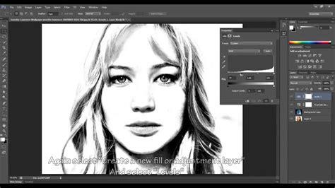 adobe photoshop cc drawing effect tutorial youtube