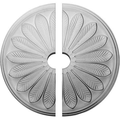ekena millwork brontes ceiling medallion unfinished