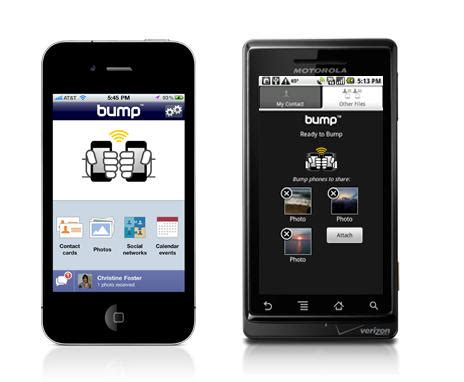apps between iphones a song between iphones with new bump update cult