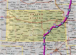 Kansas Highway Map Oklahoma