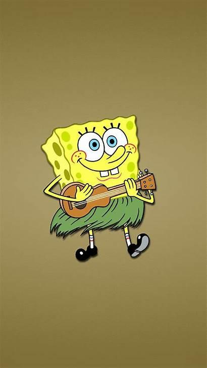Spongebob Funny Wallpapers Iphone Cool Cartoon Guitar