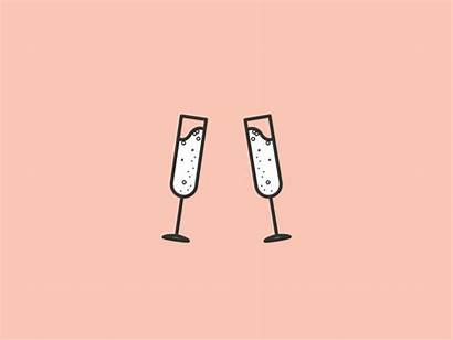 Cheers Champagne Animation Dribbble Copy Tweet Clink