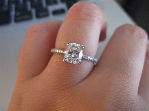 mege cushion cut engagement ring bling