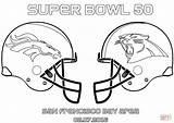 Coloring Broncos Denver Pages Printable Bowl Panthers Super Carolina 50 Vs Popular sketch template