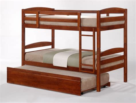Bunk Beds With Trundle by Cosmos Oak Stained King Single Bunk Beds Trundle