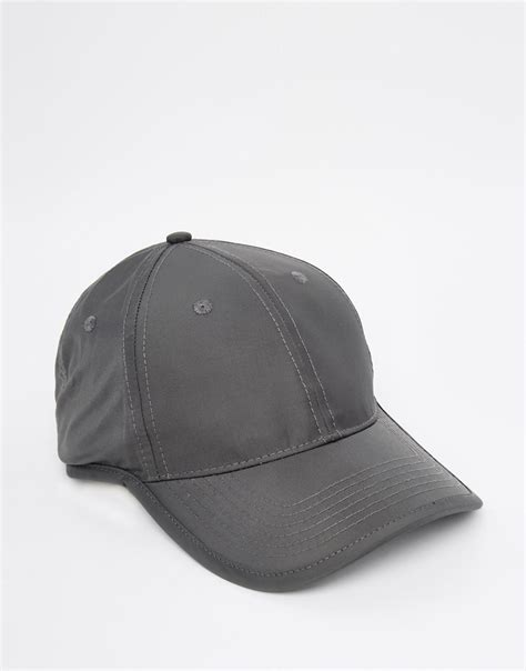 asos baseball cap in grey asos baseball cap in grey with bungee cord fastener