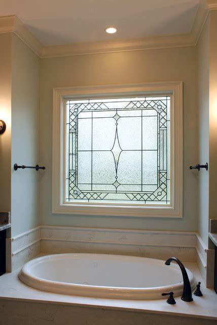 Decorative Glass Windows   Traditional   Bathroom