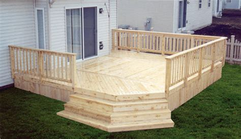 Cedar Deck Boards Menards by 16 X 18 Deck W Solid Deck Board Apron At Menards 174