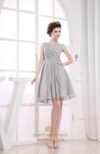 bridesmaid dresses gray gray pleated chiffon a line bateau bridesmaid dresses fancy bridesmaid dresses
