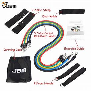 Buy Jbm Resistance Band Set Exercise Band With Door Anchor