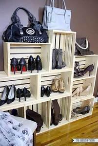 Range Chaussures Bois : range chaussures fabriquer avec des caisses en bois ~ Dode.kayakingforconservation.com Idées de Décoration