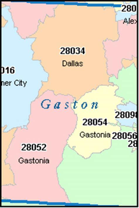 gaston county north carolina digital zip code map