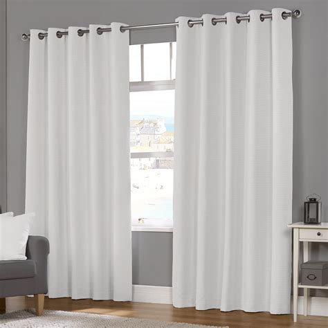 naples white luxury lined eyelet curtains pair julian