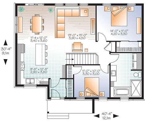open concept modern bungalow house plan guest house