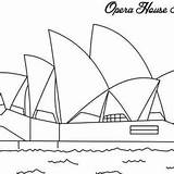 Opera Coloring Sydney Australia Drawing Sidney Cartoon Harbour Bridge Famous Icon Ready Drawings Decoration Emu 300px 87kb sketch template