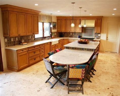 kitchen islands with tables attached kitchen island attached table houzz 8312