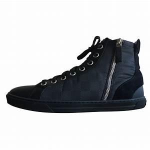 Sneakers Louis Vuitton Homme : baskets homme louis vuitton sneaker montant damier cuir ~ Nature-et-papiers.com Idées de Décoration
