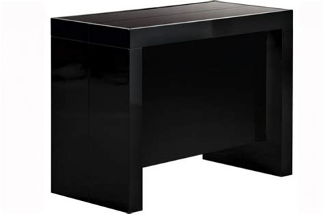 console extensible noir laque table console extensible transformable avec rangement noir laqu 233 declikdeco