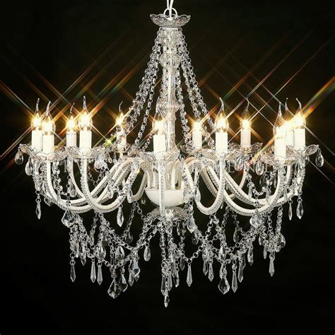 Chandelier Glass Crystals by Beautiful Large Glass Chandelier 12 Arm Light