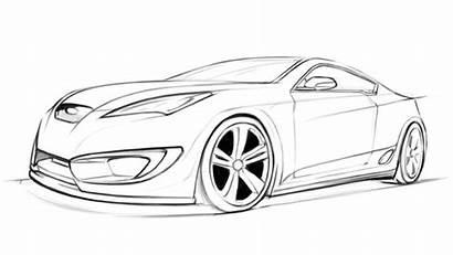 Genesis Hyundai Coupe Process Dh Coloring Cars