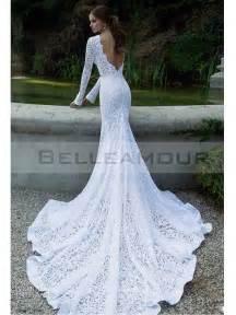 robe de mariã e dentelle sirene the makeup robe de mariée de luxe dentelle longue blanche manche sirène taîne longue nudité