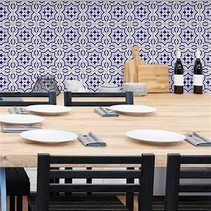 Stickers Carreaux De Ciment : 24 stickers carreaux de ciment azulejos carmen salle de ~ Melissatoandfro.com Idées de Décoration