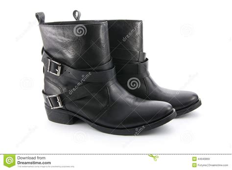 white biker boots biker boots stock photo image 44940869