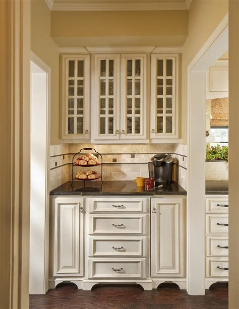 Glass Door Rustic Cherry Wood Pantry Cabinet Aside Dining